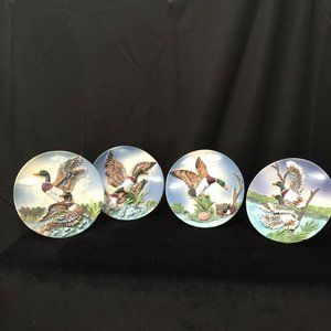 2001 Cornerstone Creations  Duck Plaque Set of 4